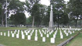 Located in Port Huron, Michigan, Lakeside Cemetery Soldiers' Lot memorializes victims of a July 1832 Asiatic cholera outbreak.