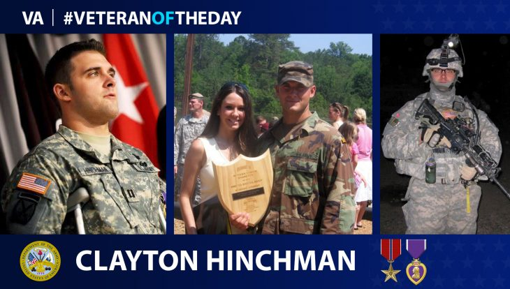 Army Veteran Clayton Hinchman is today's Veteran of the Day.