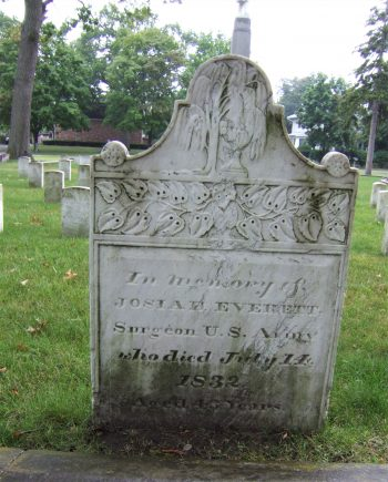 Private headstone for Dr. Everett