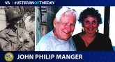 Army Veteran John Philip Manger is today's Veteran of the Day.
