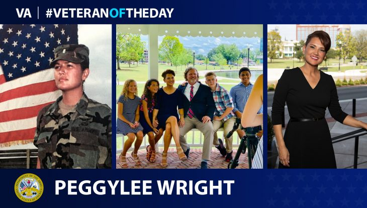 Army Veteran PeggyLee Wright is today's Veteran of the Day.