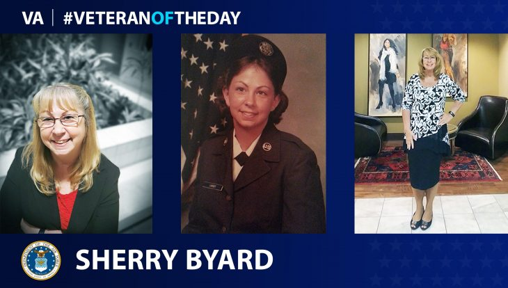 Air Force Veteran Sherry Byard is today's Veteran of the Day.