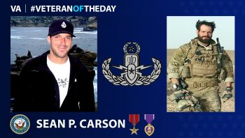 Navy Veteran Sean P. Carson is today's Veteran of the Day.