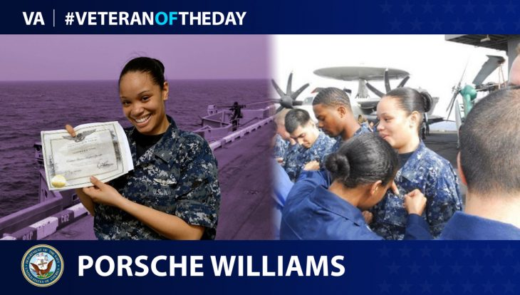 Navy Veteran Porsche Williams is today's Veteran of the Day.