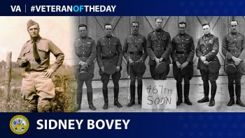 Army Veteran Sidney Bovey is today's Veteran of the Day.