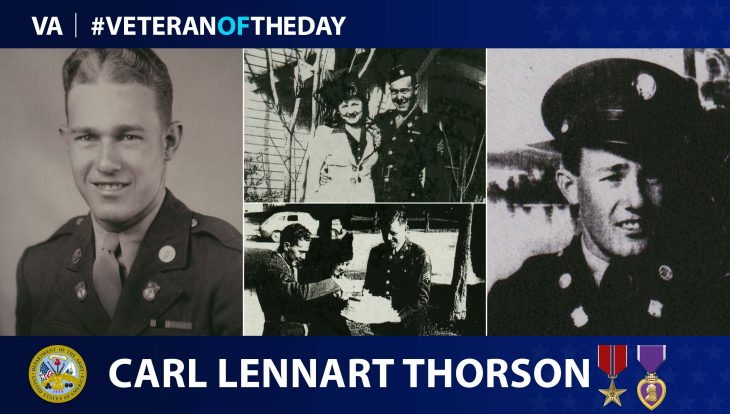 Army Veteran Carl Lennart Thorson is today's Veteran of the Day.