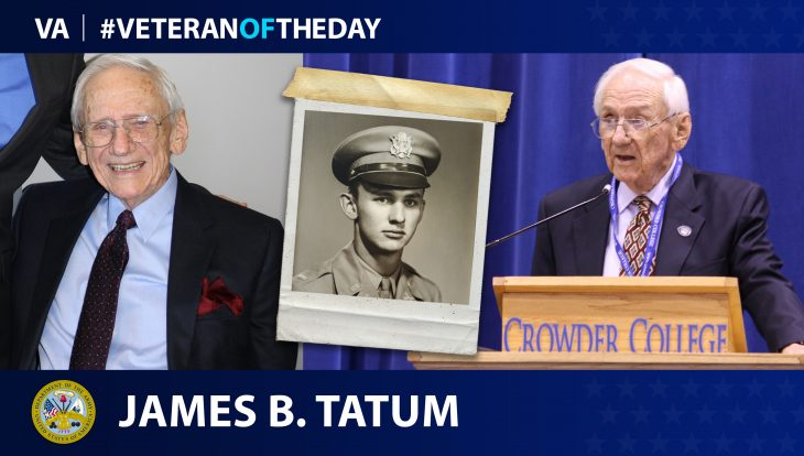 Army Veteran James B. Tatum is today's Veteran of the Day.