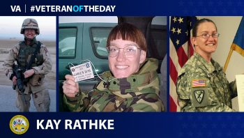 Army Veteran Kay Rathke is today's Veteran of the Day.