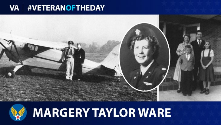 Army Air Force Veteran Margery Fitz Stephen Taylor Ware is today's Veteran of the Day.
