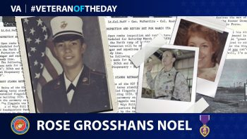 Marine Corps Veteran Rose Grosshans Noël is today's Veteran of the Day.