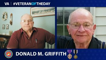 Marine Corps Veteran Donald M. Griffith is today's Veteran of the Day.