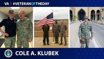 Air Force Veteran Cole Klubek is today's Veteran of the Day.