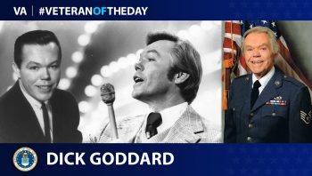 Air Force Veteran Dick Goddard is today's Veteran of the Day.