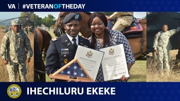 Army Veteran Ihechiluru Ekeke is today's Veteran of the Day.