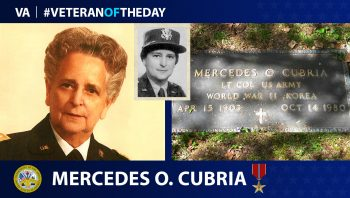Army Veteran Mercedes Cubria is today's Veteran of the Day.