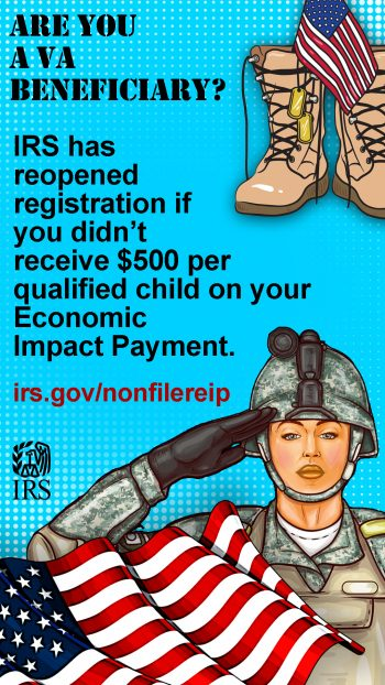 IRS graphic $500 child tax credit