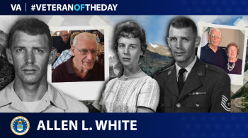 Air Force Veteran Allen L. White is today's Veteran of the Day.