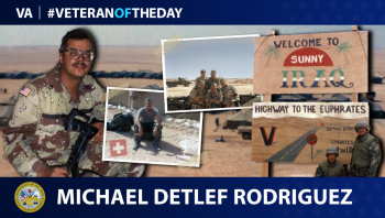 Army Veteran Michael Rodriguez is today's Veteran of the Day.
