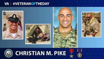 Navy Veteran Christian Pike is today's Veteran of the Day.