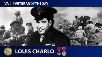 Marine Veteran Louis Charlo is today's Veteran of the Day.