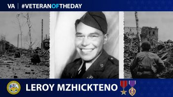 Army Veteran Leroy Mzhickteno is today's Veteran of the Day.
