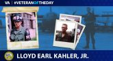 Army Veteran Lloyd E. Kahler, Jr. is today's Veteran of the Day.