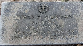 A cemetery tombstone