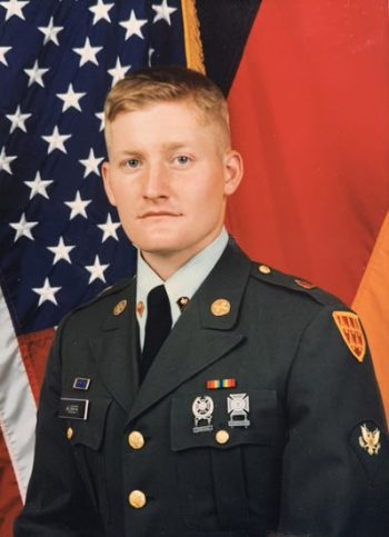 Bertrand Huber served in the Army from 1989 to 1992 and was stationed in Germany at a frontline NATO air base during the Cold War.