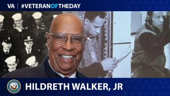 Navy Veteran Hildreth Walker Jr. is today's Veteran of the Day.