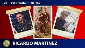 Army Veteran Ricardo Martinez is today's Veteran of the Day.
