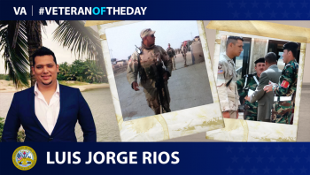 Army Veteran Luis Rios is today's Veteran of the Day.