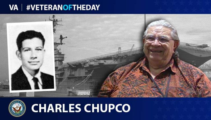 Navy Veteran Charles Sequoyah Lee Chupco is today's Veteran of the Day.