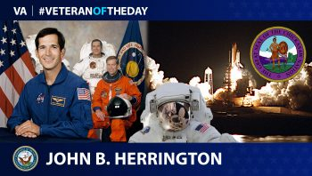 Navy Veteran John B. Herrington is today's Veteran of the Day.
