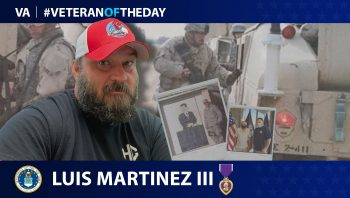 Air Force Veteran Luis Martinez III is today's Veteran of the Day.