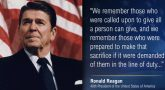 Image of Ronald Reagan and a quote.