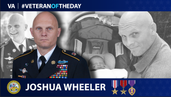 Army Veteran Joshua Wheeler is today's Veteran of the Day.