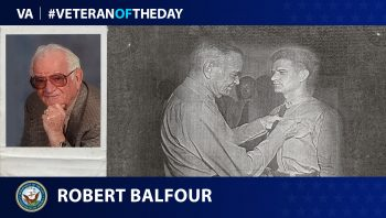 Navy Veteran Robert Balfour is today's Veteran of the Day.