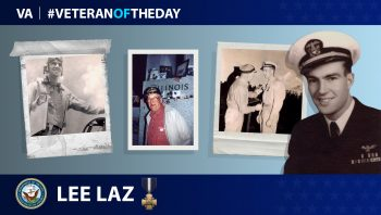 Navy Veteran Lee Laz is today's Veteran of the Day.