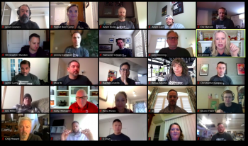virtual meeting with patriot boot camp