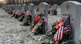 Wreaths lie at Quantico National Cemetery in Virginia Dec. 18, 2020.