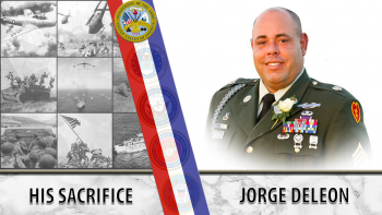 Jorge DeLeon lost his leg in an attack in Afghanistan