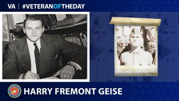 Marine Corps Veteran Harry Fermont Geise is today's Veteran of the Day.