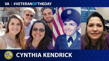 Army Veteran Cindy Kendrick is today's Veteran of the Day.