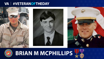 Marine Corps Veteran Brian McPhillips is today's Veteran of the Day.