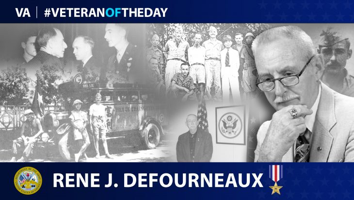 Army Veteran Rene J. Defourneaux is today's Veteran of the Day.