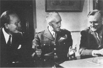 A doctor and two generals at a table