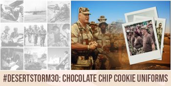 "Though it was first designed in 1962, finalized in 1976, and then standardized in 1990, the Desert Battle Dress Uniform (DBDU)—affectionately known for its ""chocolate chip"" or ""cookie dough"" camouflage patterns—defined the U.S. military era known for a single event: Operation Desert Storm."