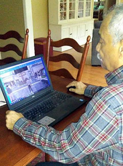 Veteran Orville Bell accesses Diabetic Self-Management Education via VA's Virtual Medical Center.