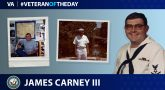 Navy Veteran James Carney III is today's Veteran of the day.