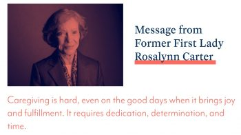 former first lady rosalynn carter caregiver